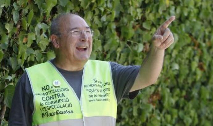 Celestino Sánchez, de 66 anys i membre de Iaioflautes. Font: Iaioflautes Font:
