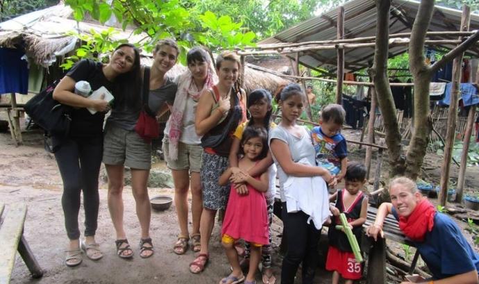 Camp de treball a Filipines durant el 2016. Font: LaFede
