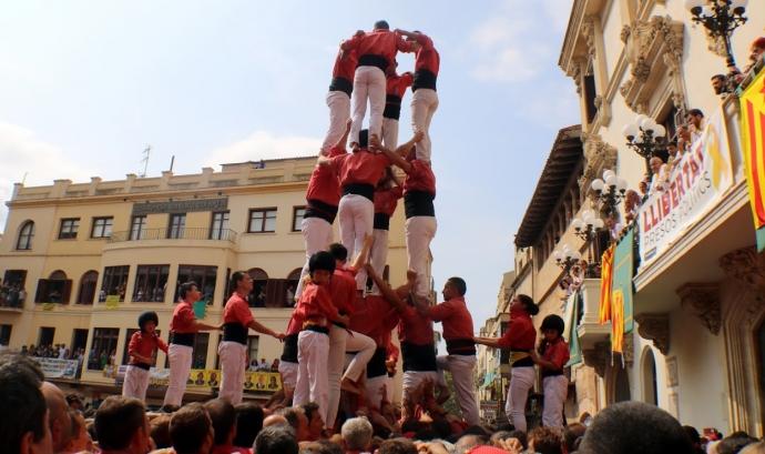 La Colla Vella dels Xiquets de Valls s'han endut la victòria sense apel·latius a la diada de Sant Fèlix de Vilafranca Font: Colla Vella dels Xiquets de Valls