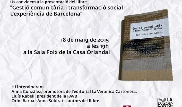 """Presentació del llibre cartonero """"Gestió comunitària i transformació social. L'experiencia de Barcelona"""""""