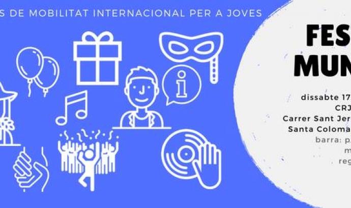 Cartell de l'esdeveniment dirigit a joves amb ganes de participar en programes de voluntariat. Font: Associació Mundus
