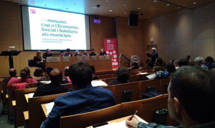 El document amb les 15 mesures cap a l'ESS va ser presentat el 10 d'abril a Sabadell Font: XES