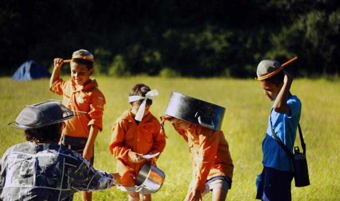 Castors i Llúdrigues de campaments d'estiu Font: Minyons Escoltes i Guies de Catalunya