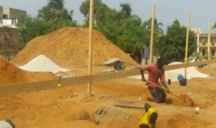Construcció de la tercera fase del projecte educatiu Font: Futbol Solidari