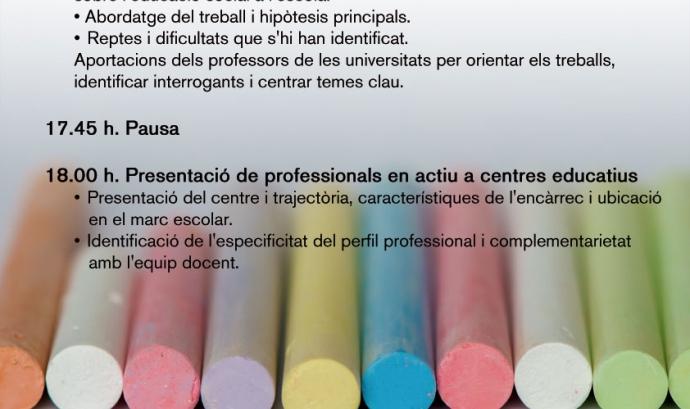 Educació Social i Escola. 2n Seminari Interuniversitari