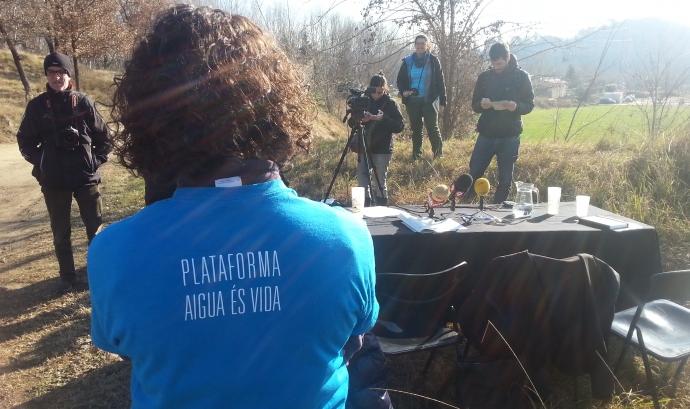 Acte protagonitzar per la Plataforma Aigua és Vida Font: