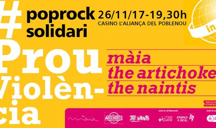 """Concert benèfic #ProuViolència en favor de l'Associació """"In Via"""""""