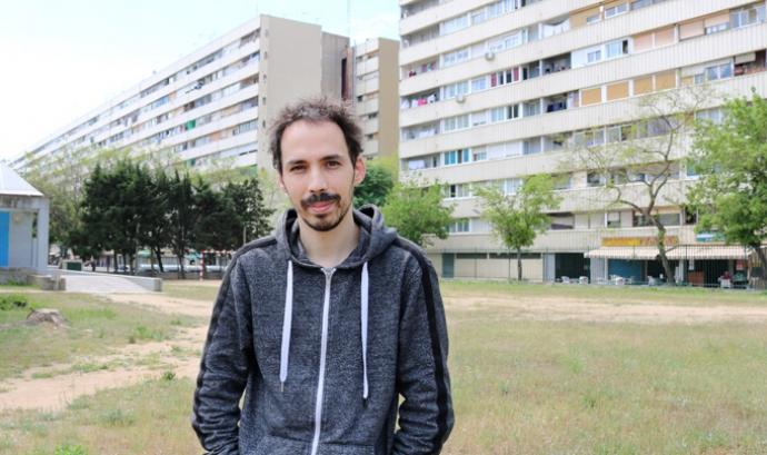 Jacob Muñoz coordinador dels projectes de l'Associació Casal Infantil La Mina Font: Casal infantil La Mina