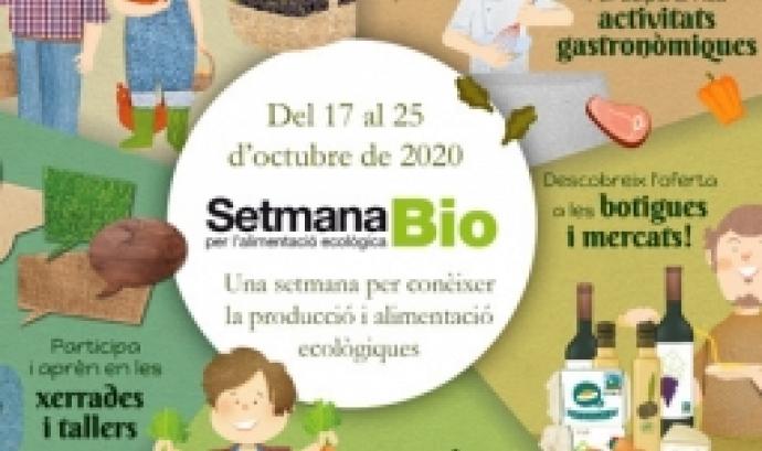 Cartell de la Setmana Bio 2020. Font: Barcelona Sostenible