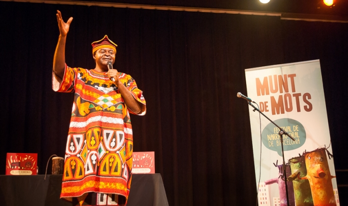 Boni Ofogo, un dels narradors del Festival - Font: Munt de Mots Font: