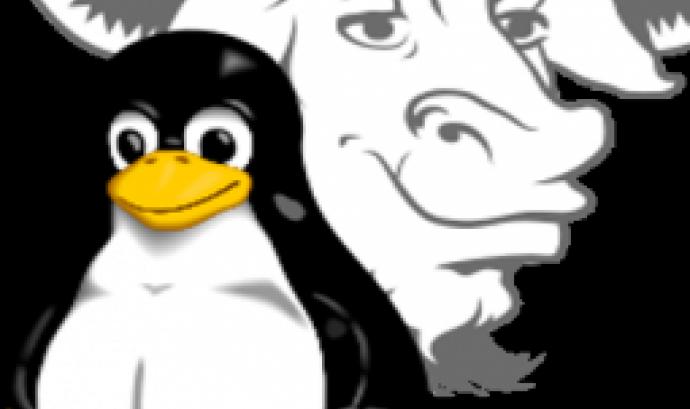 imatge del logotip de Linux i del logotip de GNU