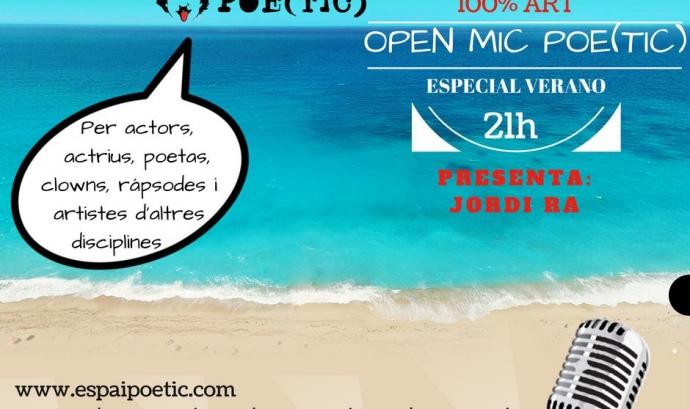 Cartell de l'Open Mic Especial estiu
