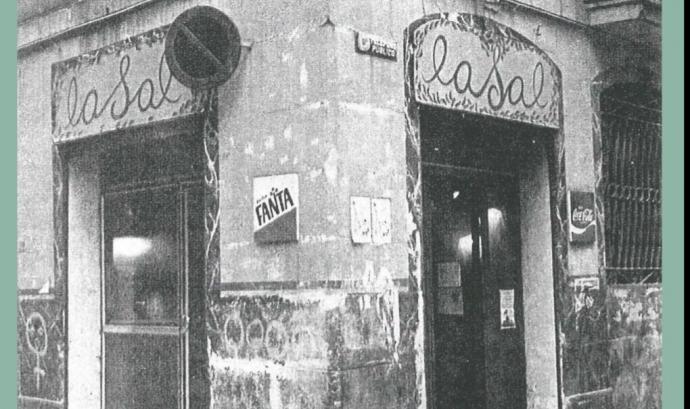 Cartell de l'acte commemoratiu pels 40 anys del bar-biblioteca feminista LaSal