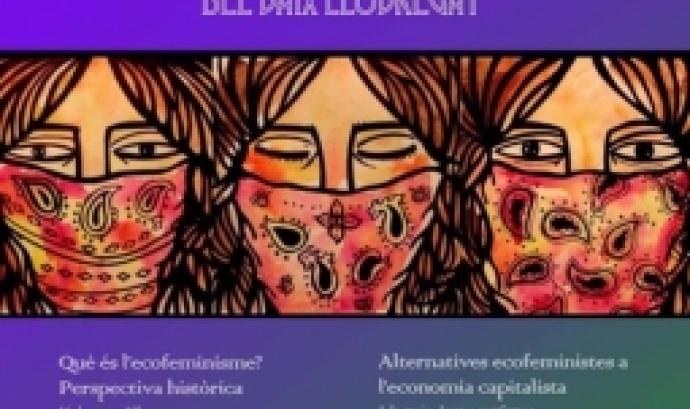 Cartell de les I Jornades Ecofeministes del Baix Llobregat