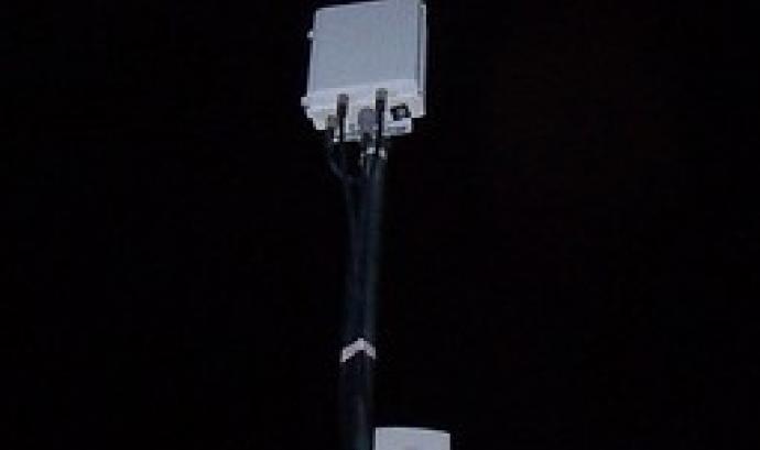 Fotografia d'una antena Guifi