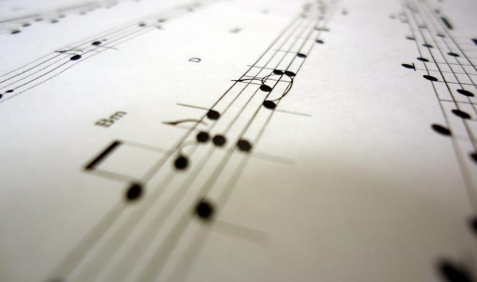 "Sheet music for ""Still Alive"", great song. Font:  Brandon Giesbrecht"