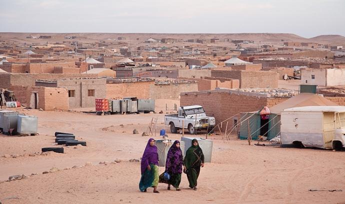 Campament de refugiats al Sàhara Font: