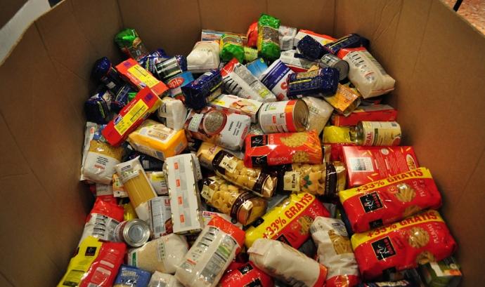 Recollida d'aliments. Font: Banc dels Aliments Font: