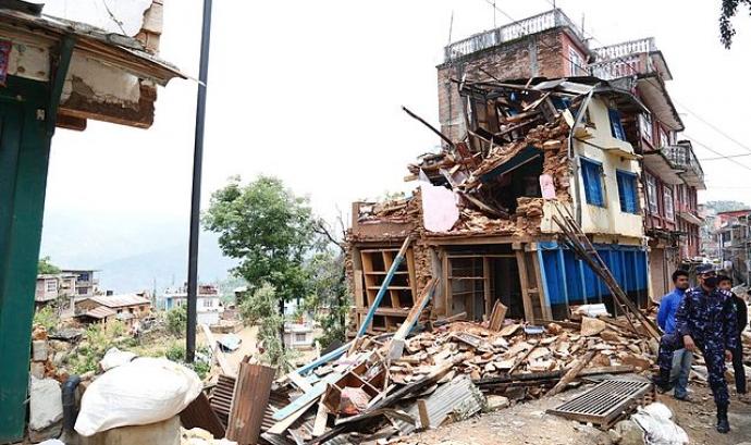 Terratrèmol al Nepal. Font: Wikipedia