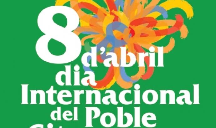 Imatge del cartell commemoratiu dels actes del 8 d'abril a Barcelona