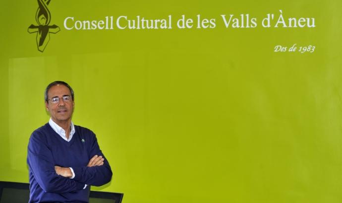 Ferran Rella a la Sala Àrnica del Consell Cultural de les Valls d'Àneu Font: Consell Cultural de les Valls d'Àneu