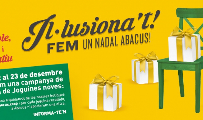 Campanya Il·lusionat! Fem un Nadal Abacus! Font: Abacus