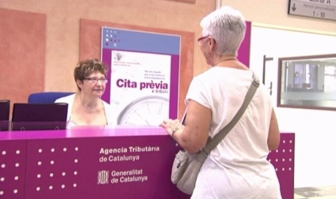 Imatge oficina Agencia Tribut. de Catalunya. Font: web CCMA