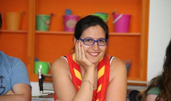 Aina Màdico, comissària internacional de Minyons Escoltes i Guies de Catalunya. Font: