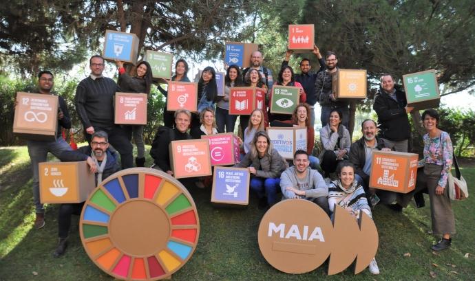 Al curs participen un total de 24 joves de 9 nacionalitats diferetns. Font: Fundesplai. Font: Font: Fundesplai.