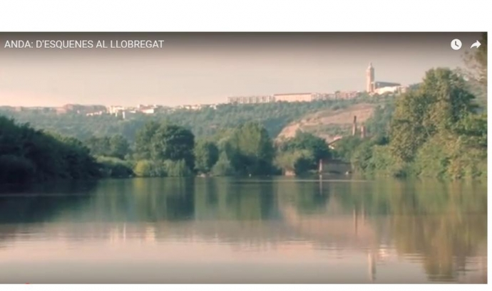 El riu LLobregat a l'alçada d'Esparraguera (imatge: anda) Font:
