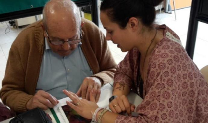 Participants al centre Nau Jove de Silla (València). Font: Fundación Esplai Font: