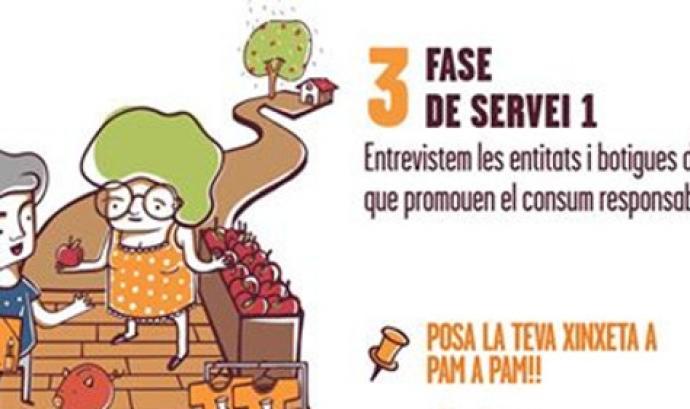 Projecte 'Posa la teva xinxeta a Pam a Pam!'. Font: Setem Catalunya
