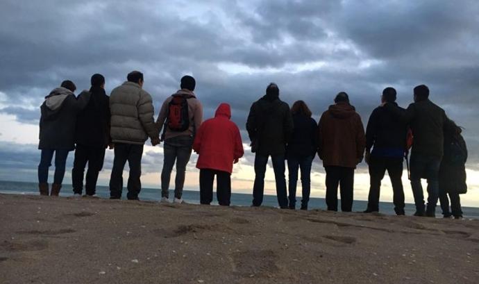 Grup de participants en una de les vacances organitzades per Aspanias.