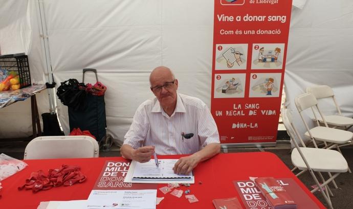 Joan Noguera és el fundador i president de l'Associació de Donants de Sang de l'Hospitalet. Font: Ass. de Donants de Sang de l'Hospitalet. Font: Ass. de Donants de Sang de l'Hospitalet