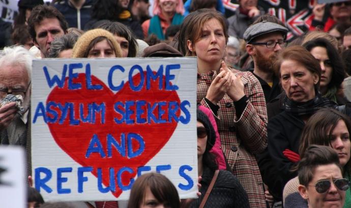 Manifestació demanant protecció internacional. Font: Takver, Flickr