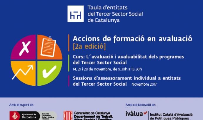 """Curs """"Avaluació i avaluabilitat dels programes del Tercer Sector Social"""""""