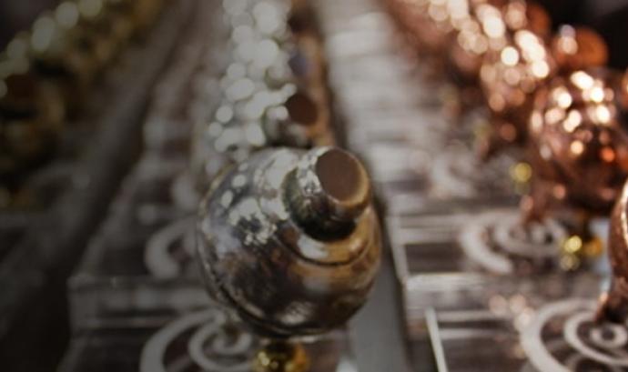 Els trofeus que representen baldufes, símbol de l'entitat