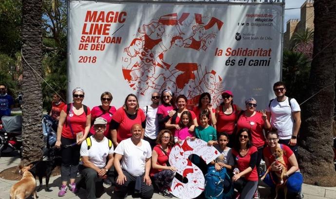 Els equips de la Magic Line participen a la marató i aconsegueixen reptes solidaris. Font: Magic Line SjD