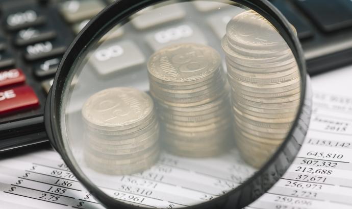 Lupa amb diners i ordinador Font: Freepik
