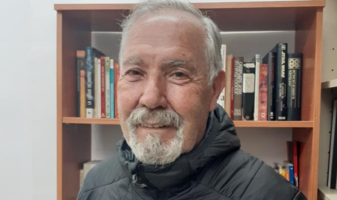L'Antonio Cazorla és el president de l'AAVV Barri Montserrat de Terrassa. Imatge d'Antonio Cazorla.  Font: Antonio Cazorla