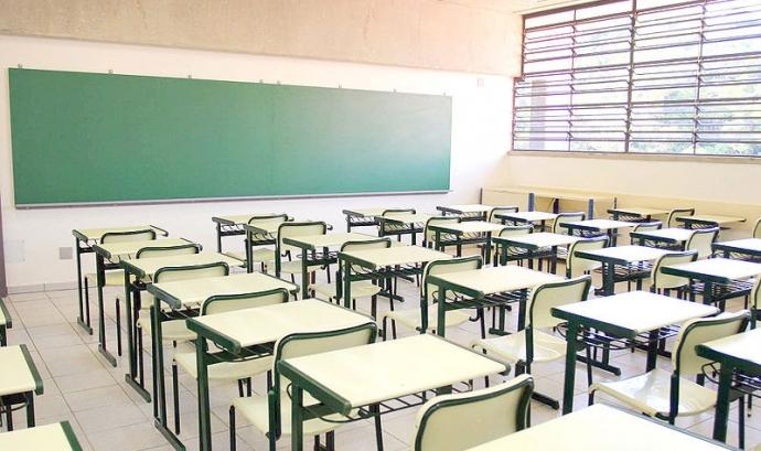 Una aula buida