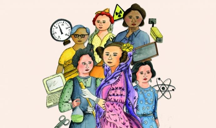 Cartell per anunciar les activitats sobre ciència i tecnologia amb perspectiva de gènere a La Palmira. Font: Centre Cívic Domènech Palmira