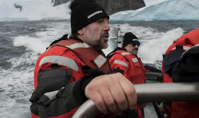Javier Bardem ha participat en l'expedició a l'oceà Antàrtic amb Greenpeace Font: Greenpeace