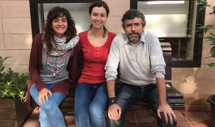 Equip comunitari del programa 'Marianao TéCor'. En el centre de la imatge, Carmen González. Font: Fundació Marianao