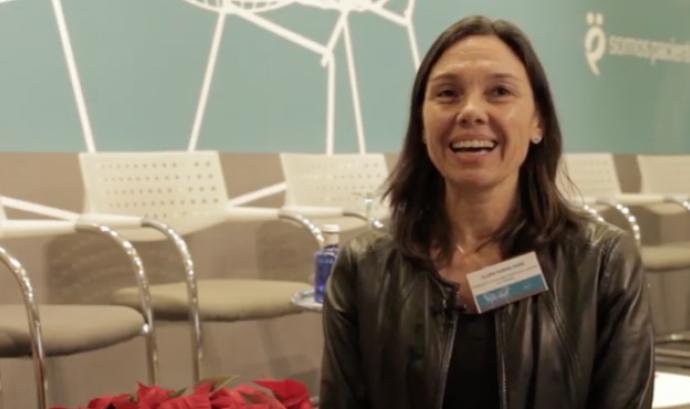 Clara Rosàs, coordinadora de la FECEC.  Font: Youtube