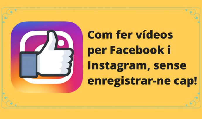 Imatge sobre el recurs Com fer Vídeos per Facebook i Instagram sense enregistrar-ne cap!  Font: Xavi Aranda