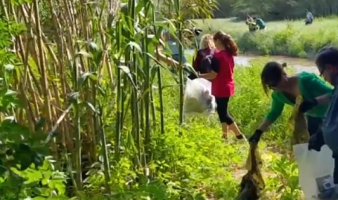 Grup de voluntaris i voluntàries a la passada edició del Let's clean up, a Parets del Vallès Font: Ajuntament de Parets del Vallès