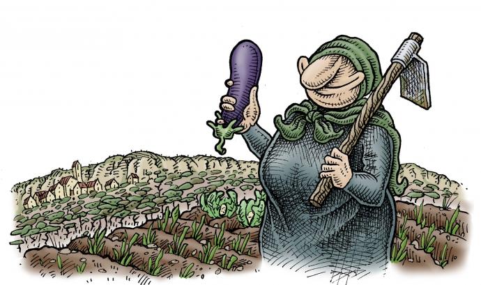La pagesa Galderica, imatge de la Festa pel Territori
