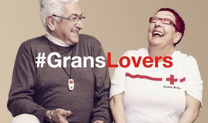 Imatge promocional de la campanya #GransLovers. Font: Creu Roja de Catalunya