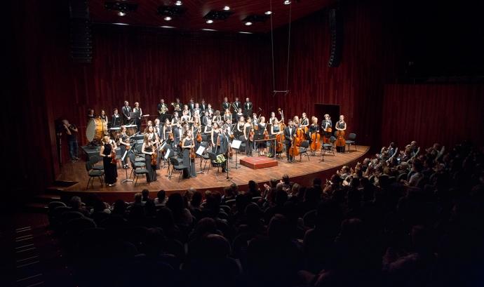 La JOSB en una actuació a l'Auditori de Barcelona.
